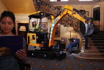 JCB's electric mini excavator wins prestigious award