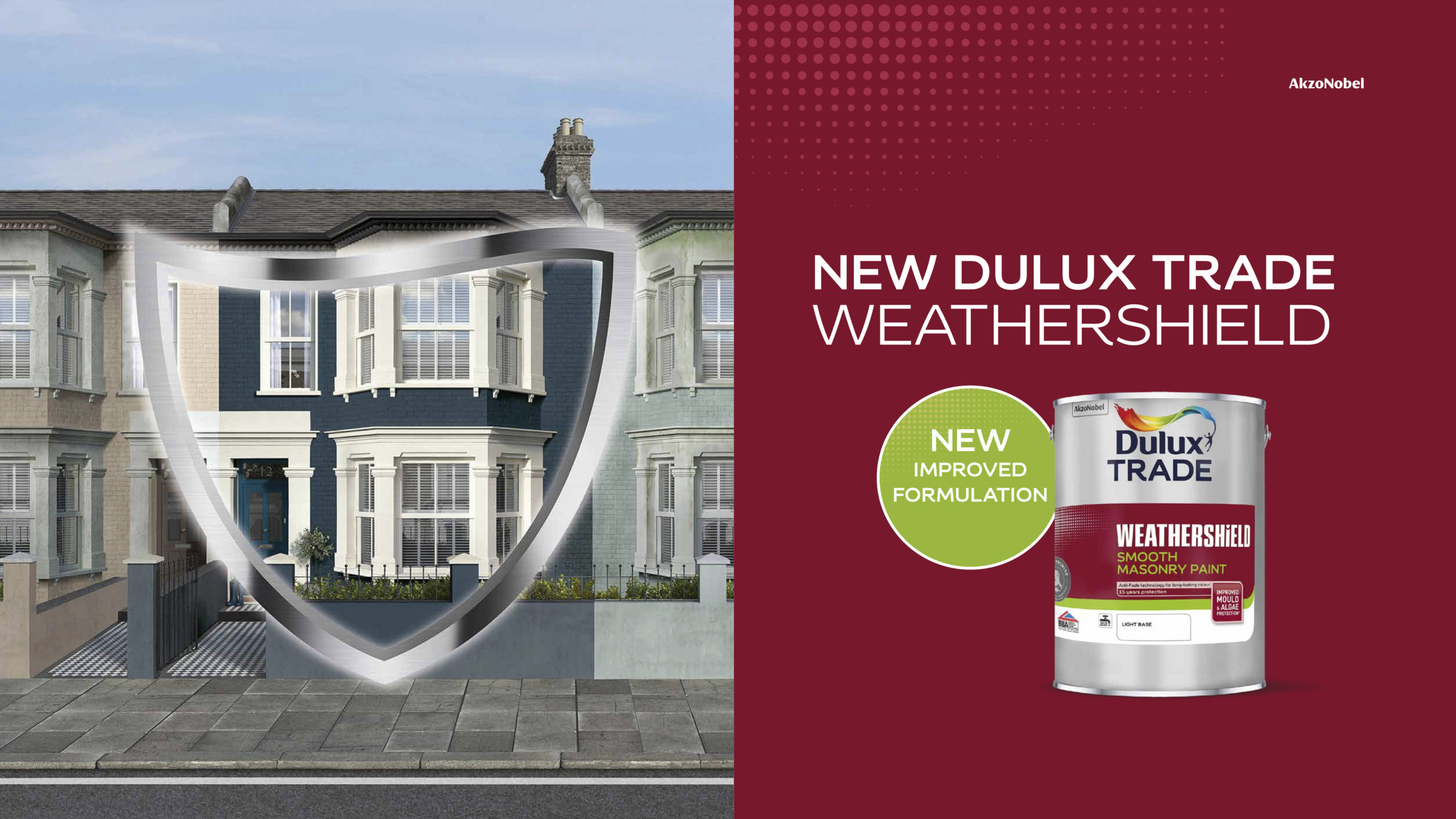 New Dulux Trade Weathershield formulations offer the ultimate in performance