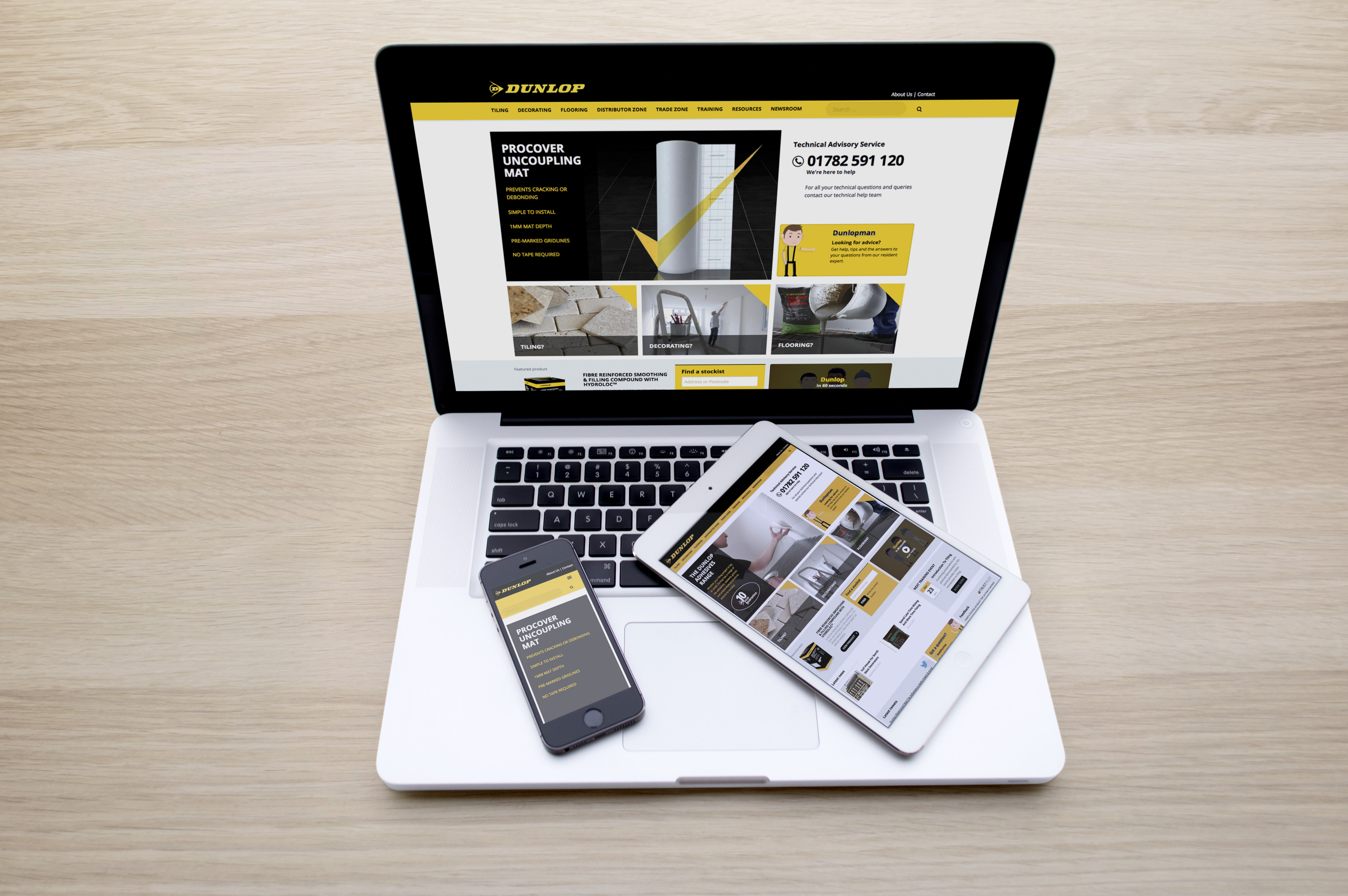 Dunlop launches new website