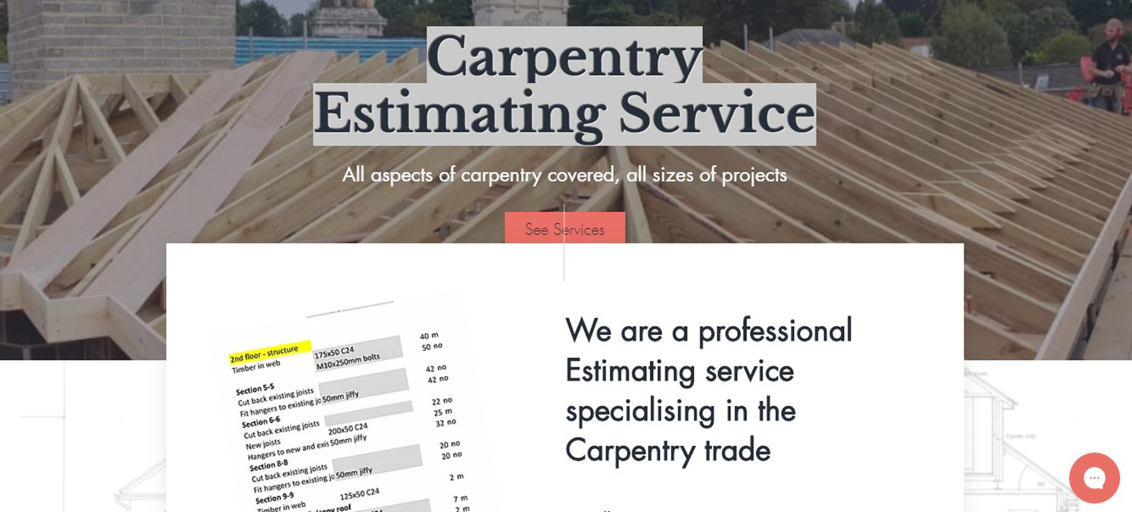 Carpentry Estimator: a new concept in trade specific estimating