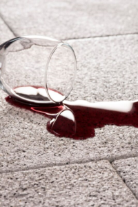 wine spill paving