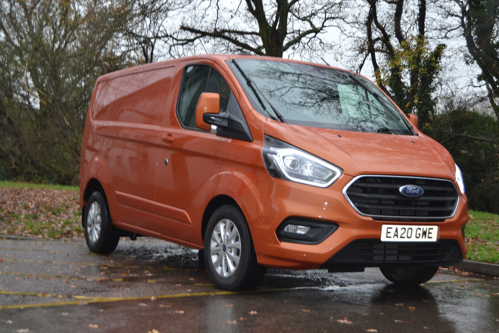 The new hybrid version of the Ford Transit Custom