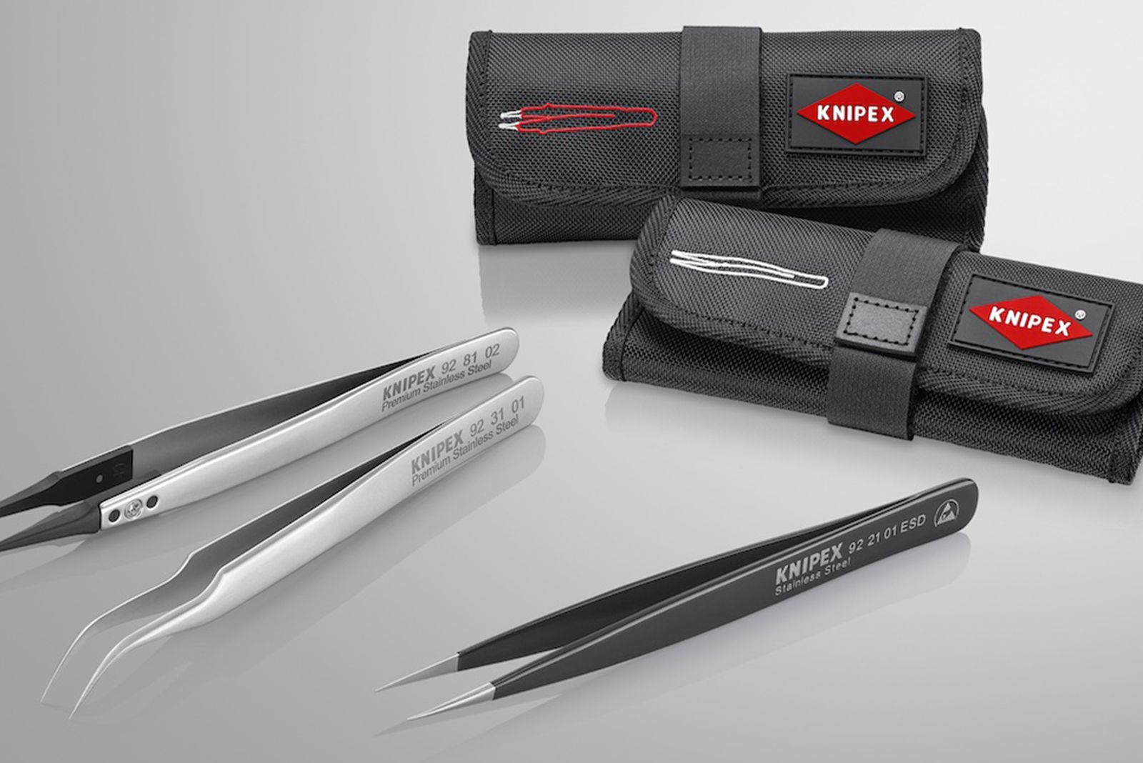 KNIPEX launches range of tweezers: specialists for the finest gripping, holding and cutting