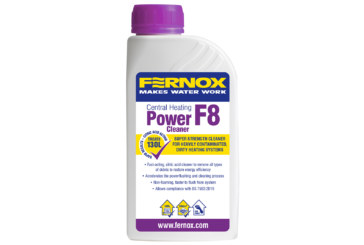 Fernox introduces new power cleaner F8 to its 500ml chemical range