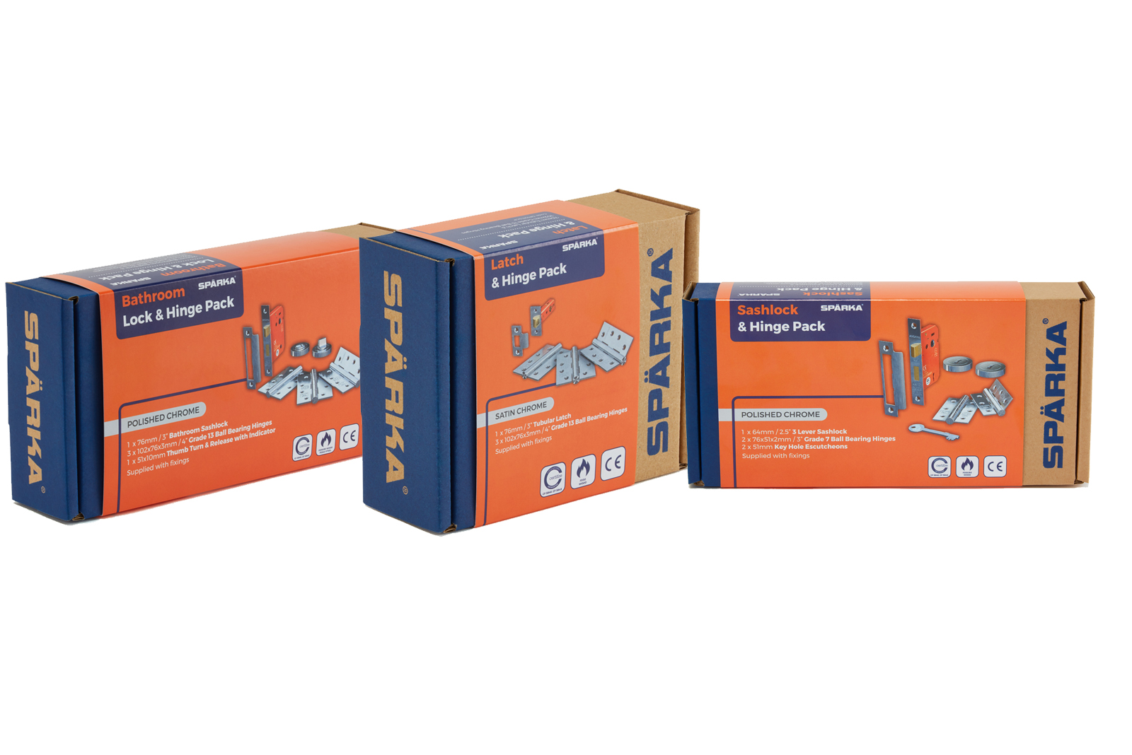 5 bundles of 3 Spärka door hardware packs to win