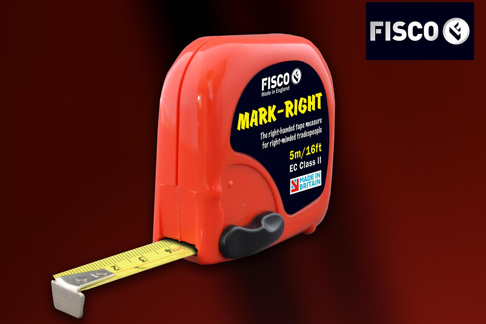 Fisco's new 'Mark-Right' measuring tape