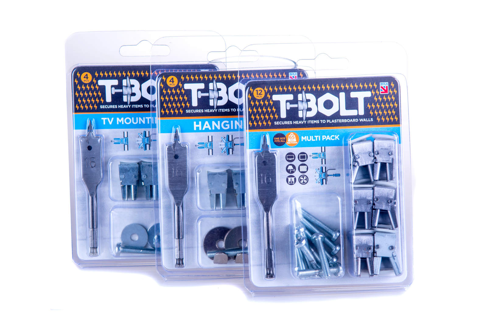 10 TBOLT plasterboard fixings to win