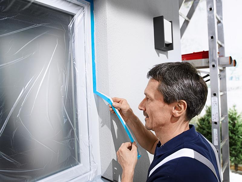 decorator using tesa tape