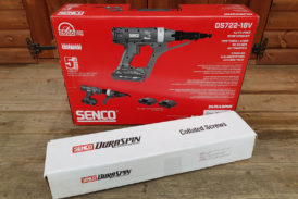 Tibby Singh tests out Senco's new High Speed Auto-feed Screwdriver