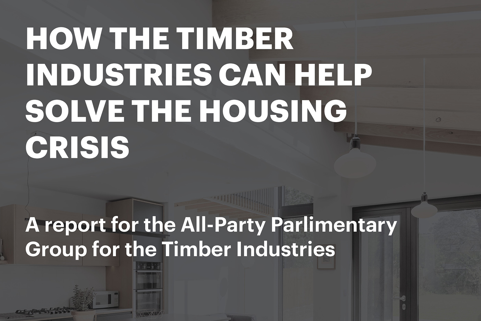 How the timber industries can help solve the housing crisis
