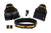 Toughbuilt 4 piece tool belt set up for grabs
