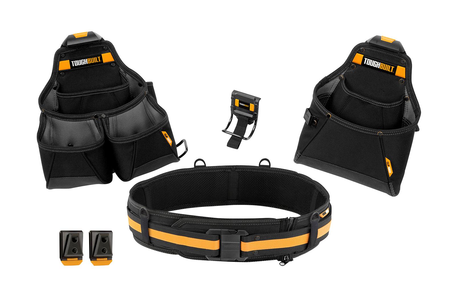 Toughbuilt 4 piece tool belt set up for grabs